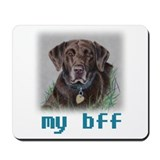 My bff, Chocolate Nip Mousepad