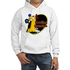 Yellow number 1 bowling grand Hoodie