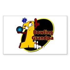 Yellow number 1 bowling grand Rectangle Decal
