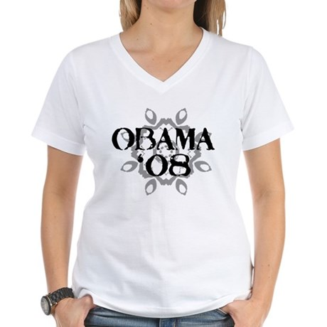 Obama '08 Women's V-Neck T-Shirt