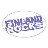 Finland Rocks Oval Decal