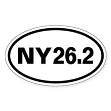 26.2 New York Marathon Oval Oval Sticker (10 pk)