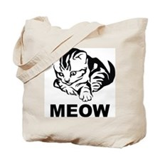 Meow Cat Tote Bag