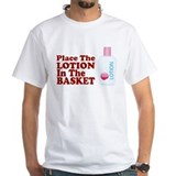 Place The Lotion In the Baske Shirt