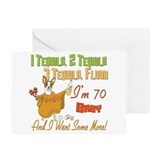 Tequila 70th Greeting Card