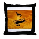 """Dogfight"" Throw Pillow"