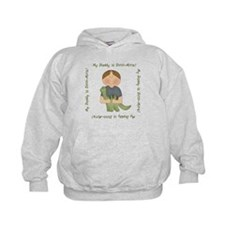 My Daddy is Dino-Mite (Brown hair boy) Hoodie