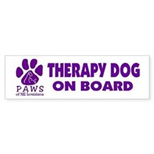 Therapy Dog on Board Bumper Bumper Sticker