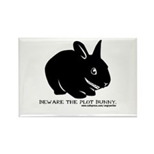 Beware Plot Bunny Rectangle Magnet