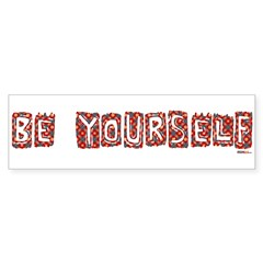 Be Yourself Colorful 'Quilted' bumper sticker