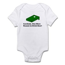 Cornhole and Root Beer Infant Bodysuit