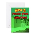 Trailer Park Christmas Greeting Cards