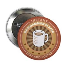 """Instant Backgammon Player 2.25"""" Button (10 pack)"""