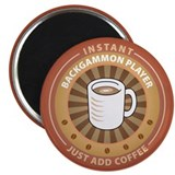 Instant Backgammon Player Magnet