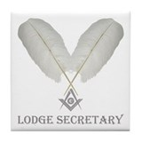 Masonic Secretary Tile Coaster