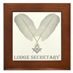 Masonic Secretary Framed Tile