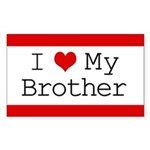 I Heart My Brother Rectangle Sticker 10 pk)