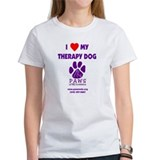I Love My Therapy Dog Tee