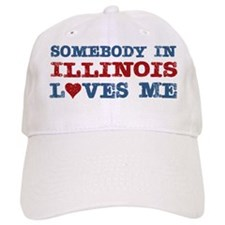 Somebody in Illinois Loves Me Baseball Cap