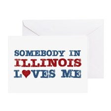 Somebody in Illinois Loves Me Greeting Card