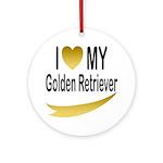 I Love My Golden Retriever Keepsake (Round)