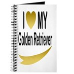 I Love My Golden Retriever Journal