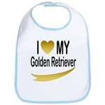 I Love My Golden Retriever Bib