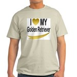 I Love My Golden Retriever Ash Grey T-Shirt