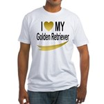 I Love My Golden Retriever Fitted T-Shirt