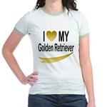 I Love My Golden Retriever Jr. Ringer T-Shirt