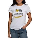 I Love My Golden Retriever Women's T-Shirt