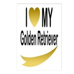 I Love My Golden Retriever Postcards (Package of