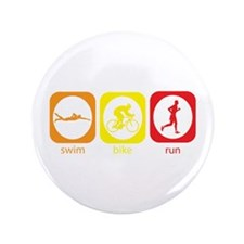 "Swim Bike Run 3.5"" Button"