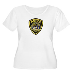 Santa Maria Police Women's Plus Size Scoop Neck T-