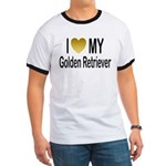 I Love My Golden Retriever Ringer T