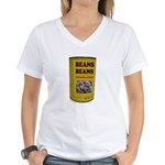BEANS BEANS Women's V-Neck T-Shirt