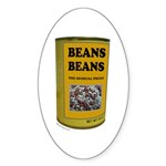 BEANS BEANS Oval Sticker (50 pk)