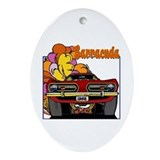 1968 Barracuda Oval Ornament