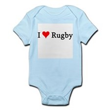 I Love Rugby Infant Creeper
