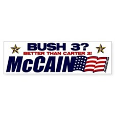 Bush 3 vs Carter 2 Bumper Sticker (10 pk)