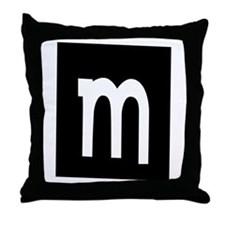"""Earwig Factory - Letter m"" Throw Pillow"