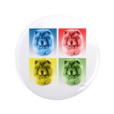 "Chow Chow Pop Art 3.5"" Button (100 pack)"