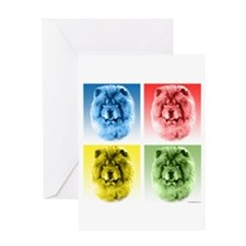 Chow Chow Pop Art Greeting Card