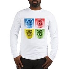Chow Chow Pop Art Long Sleeve T-Shirt