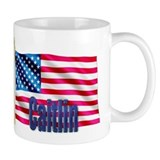 Caitlin USA Flag Gift Coffee Mug