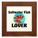 Saltwater Fish Lover Framed Tile