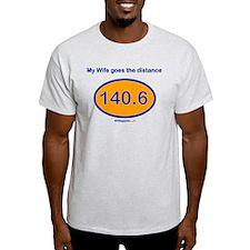 140.6 Distance Wife T-Shirt