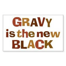 Gravy is the new Black Rectangle Sticker 50 pk)