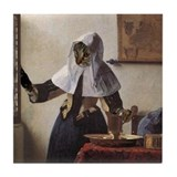 Cat VERMEER PITCHER Tile Coaster
