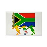 South Africa Soccer Rectangle Magnet